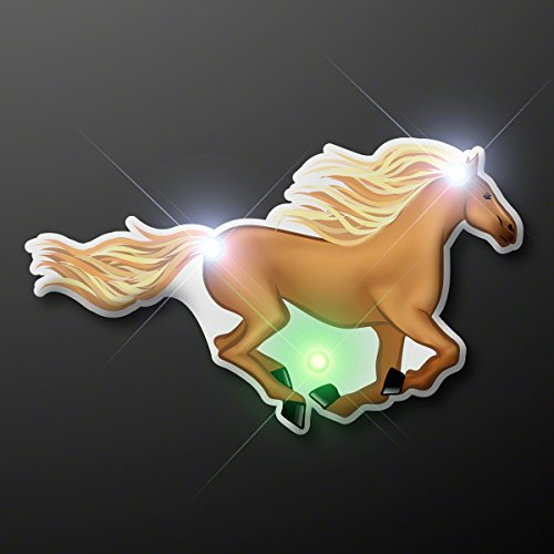 Light Up Horse Flashing Blinking LED Body Light Lapel Pin -