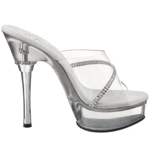 Pleaser ALLURE-601R ALLURE-601R/C/RS - Sandalias de vestir para mujer Transparente