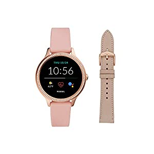 Fossil Women's Gen 5E 42mm Stainless Steel Touchscreen Smartwatch with Speaker, Heart Rate, Contactless Payments and…
