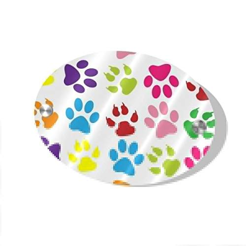 Rod Whitehead Colorful Paw Prints Home Sign Wood Board Signs Decor Easy Hanging Family Decoration for Home, Door, Mantle, Wall, Table, Porch, Office, Clinic, Law Firm, Hotel 5.5 x 7.5 inch