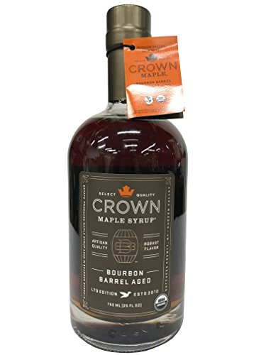 Crown Maple Syrup with Robust Flavor Bourbon Barrel Aged LTD Edition 25 FL ()