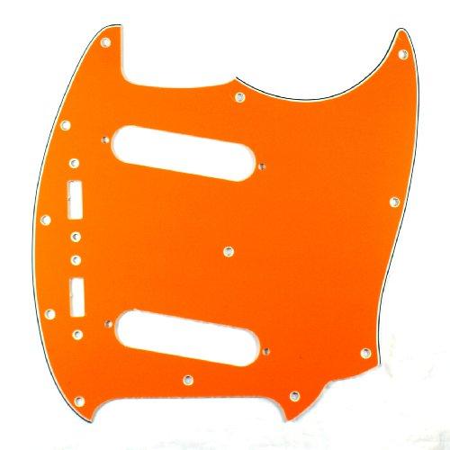 (E66) Custom Guitar Pickguard Fits Mustang Classic Series ,4 Ply Orange ()
