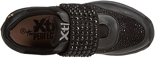 Black grau Schwarz Black Damen 047416 Sneaker XTI qY6fTw