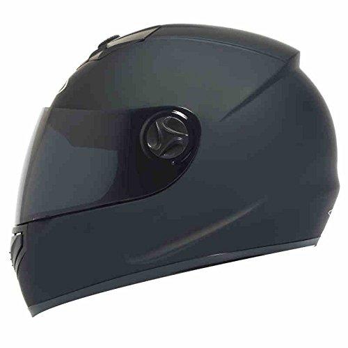 Motorcycle Helmet Male Female Four Seasons Universal Full Cover Electric Vehicle Safety Helmet Warmth Anti-Fog Full Face Helmet (Color : Matt black) by Moolo