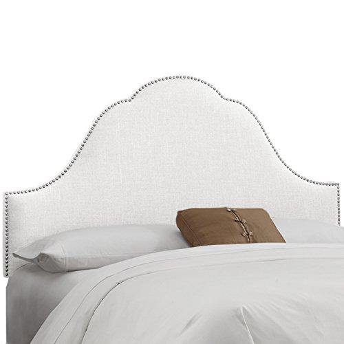 Skyline Furniture Arch Nail Button Headboard, Klein White, Full