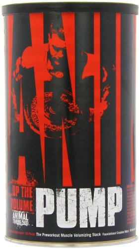 Universal Nutrition Animal Pump Pre-Workout, Nitric Oxide, Creatine, Energy Supplement,30 PACKS