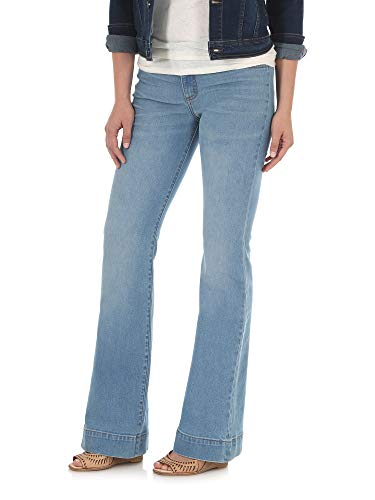 Wrangler Women's Retro Mae Mid Rise Stretch Wide Leg Jean, Bellemount 19X34