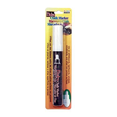 Uchida 480-C-0 Marvy Broad Point Tip Regular Bistro Chalk Marker, White ()