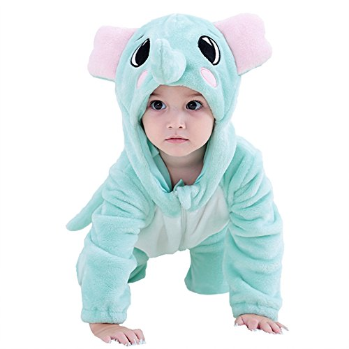 (MerryJuly Unisex-Baby Animal Onesie Costume Cartoon Outfit Homewear (90cm/(12-18 Months),)