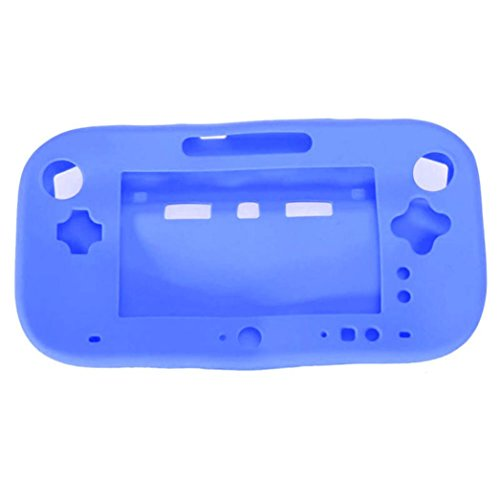 Dreamyth Silicone Rubber Skin Case Protective Cover for Wii U Gamepad Wireless Controller Practical (Blue)