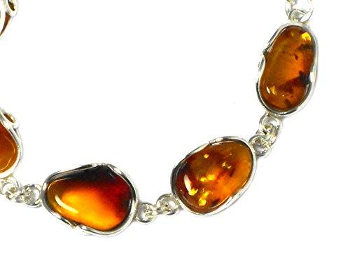 - Bracelet Femme-Argent 925/1000-ambre Cognac (abbl0911164)