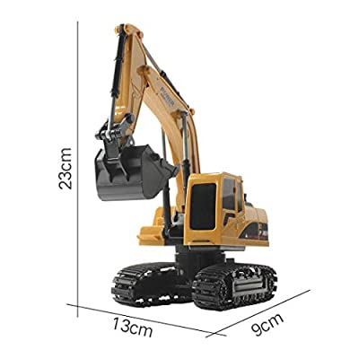Kaimu 1:24 Four-Wheel Drive Crawler Excavator Remote Control Educational Toy with Light Toy RC Vehicles: Toys & Games