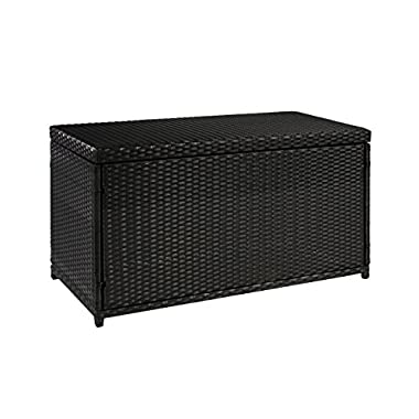 Best ChoiceProducts Wicker Deck Storage Box Weather Proof Patio Furniture Pool Toy Container