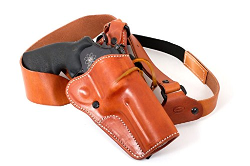 Diamond D Custom Leather Leather Guides Choice Chest Holster- GP100-4, Natural