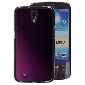 A-type Arte & diseño plástico duro Fundas Cover Cubre Hard Case Cover para Samsung Galaxy Mega 6.3 (Clean Minimalist Purple Black Shadow)