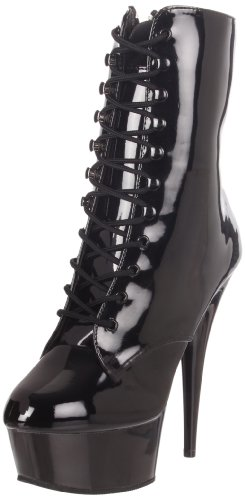 Pleaser Women's Delight-1020/B/M Boot,Black Patent,9 M (Pleaser Boots)