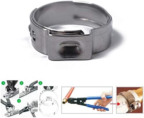 Inside Diameter Range 5.8-21mm Easy to Operate and Carry. Happyshopping Double Wire Spring Pipe clamp 70 PCS Adjustable Single Ear Plus Stainless Steel Hydraulic Hose Clamps O-Clips Pipe Fuel Air