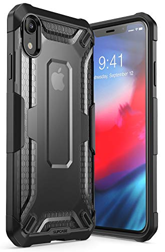 SUPCASE [Unicorn Beetle Series] Case for iPhone XR , Premium Hybrid Protective TPU and PC Clear Case for iPhone XR 6.1 Inch 2018 Release (Black)