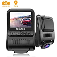 Toguard CE55G 4K GPS Dashboard Dash Camera with Loop Recording Parking Monitor Travelapse White Balance