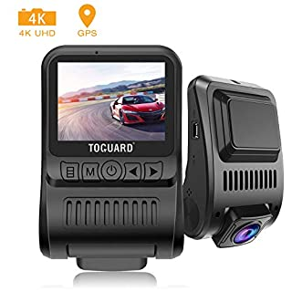 TOGUARD Upgraded Dash Cam 4K 3840x2160P GPS Dashboard Dash Camera for Cars 2 inch 170° Wide Angle Vehicle Driving Recorder with Loop Recording Parking Monitor Travelapse White Balance