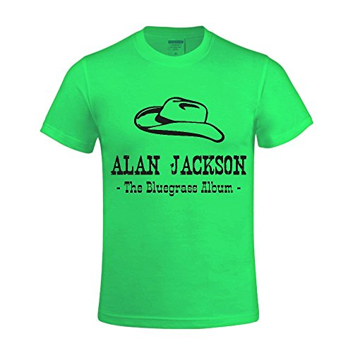 alan-jackson-the-bluegrass-album-t-shirts-for-mens-funny-round-neck-green