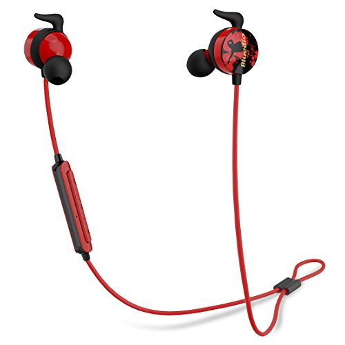 Bluedio AI (Air) Bluetooth 4.2 Wireless Headphone, Sports Earphone Sweatproof Running Earbuds for Gym Running Workout with Mic (Red) (Headphones Style Red Monitor)