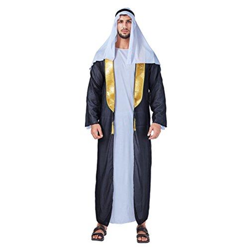 Zhuhaitf Médiévale Tenue Moyen-orient De Fête Costumée Robe De Fantaisie Pour Hommes Cosplay Halloween Dubai Style Jeu Arab Robe De Performance 9-11 De Style Disponibles 10