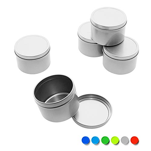- Tins - Deep Solid Top 1oz, 2oz, 4oz, 6oz, 8oz, 10oz (8 oz, Gray)
