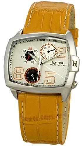 P27796-5 Reloj Racer Mujer, multifunción, caja de acero, correa de cuero, garantía 2 años.: Amazon.es: Relojes