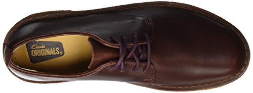 Stringate Brown Uomo Basse Clarks nut Originals Derby Scarpe Leather London Desert Marrone w100IvqR