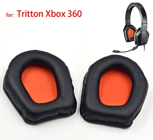 Replacement earpads ear pad cushion cover pillow for Tritton Trigger Stereo headset for Xbox 360 headphones headset (Xbox 360 Tritton Trigger Headset)