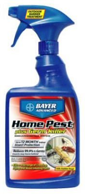 Bayer Advanced 700460 Home Pest Plus Germ Killer Indoor and Outdoor Insect Killer Ready-To-Use, - Pest Barrier