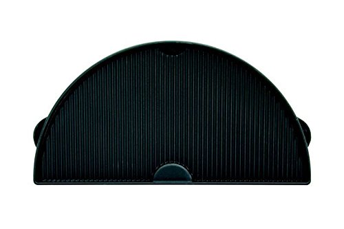 Big Green Egg - HALF MOON EX-LARGE Cast Iron Griddle - Authentic Big Green Egg Grill & Smoker Accessories are a Must for BGE Users. Satisfaction Guaranteed! by Big Green Egg
