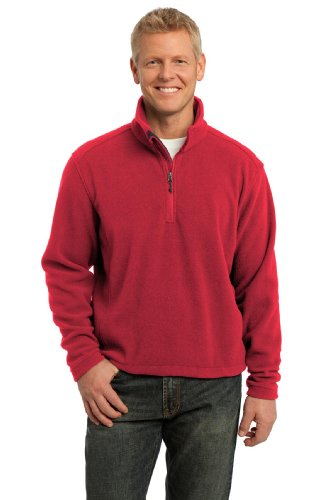 Red Fleece Pullover Jacket - 3