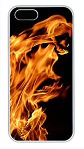 Abstract Phoenix White Sides Hard Shell Case for Iphone5 and Iphone5S by Sakuraelieechyan
