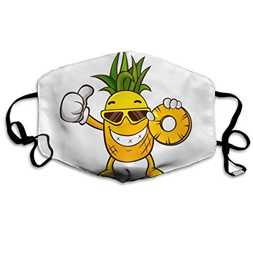 HOODSWOP Dust Mask for Women and Men Pineapple Praise Printed Anti Pollution Face Mask Anti-dust Mouth -