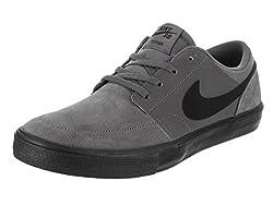Nike Mens Sb Portmore 2 Solar Dark Greyblack White (9.5)