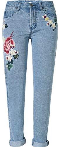 Biran Elasticizzato Denim Blu Pastorale Donna Jeans Elasticizzati Stile Grazioso Colour YqUnxYS6wE