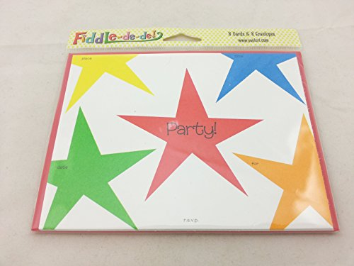 "SanLori Designs ""All Star, Always"" Party Invitation Cards with Envelopes - 8 ct"