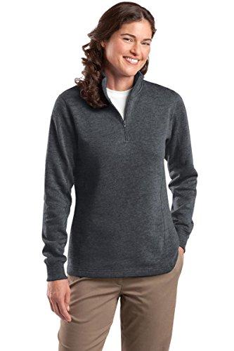 Ladies 1/4 Zip Sweatshirt - 7