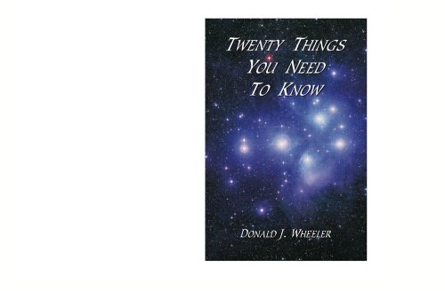 Twenty Things You Need to Know