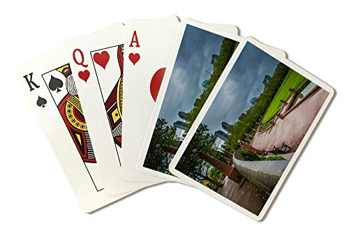 (Cloudy Bellevue Park, Washington Photograph A-91365 (Playing Card Deck - 52 Card Poker Size with Jokers))