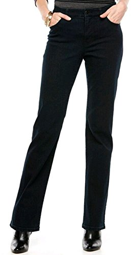 Chaps Womens' Curvy Fit Striaght Leg Denim Jeans, Midnight Blue Wash (Chaps Jeans For Women)