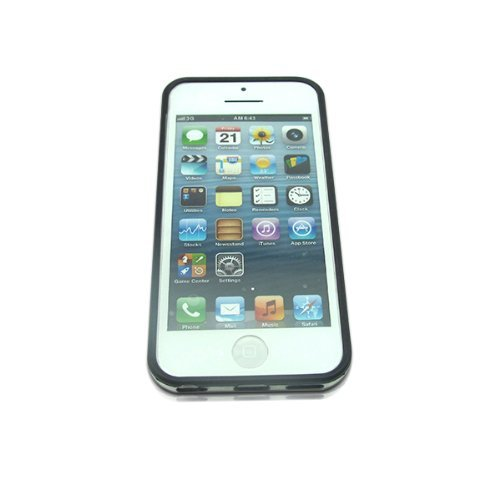 iPhone 5 Bumper, MyCell Plastic Protective Case for Apple iPhone 5/5S - Black