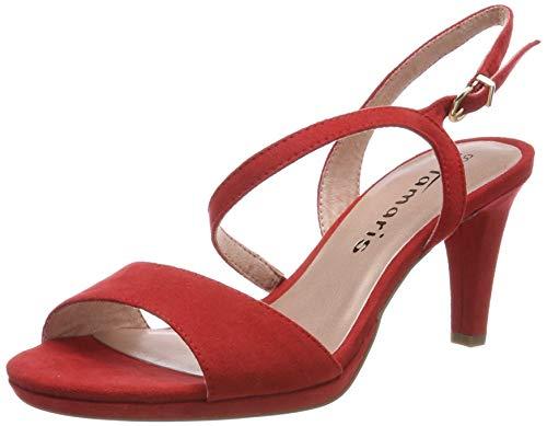 Sandales 533 Tamaris 1 28318 Rouge chili 22 Femme Bride Arrière 1 533 wwUrXP