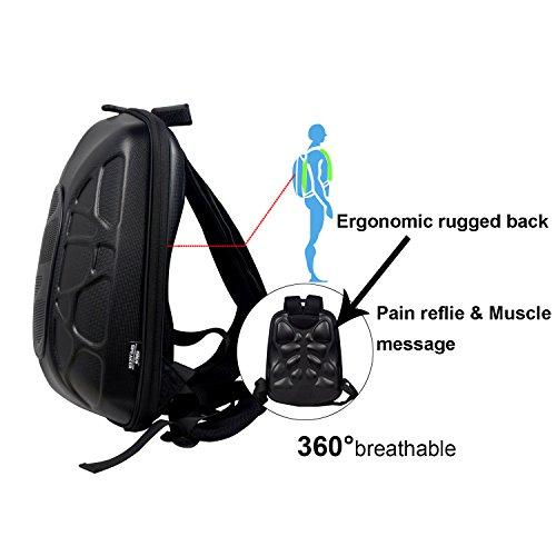 WILDMAN Multi-Functional Waterproof Lightweight Enabled Wireless Bluetooth Speaker LED Light Backpack (Black) by Wildman (Image #3)