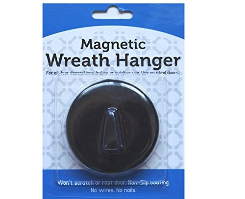 Magnetic Seasonal Wreath Hanger for Steel Doors - Up to 6lbs