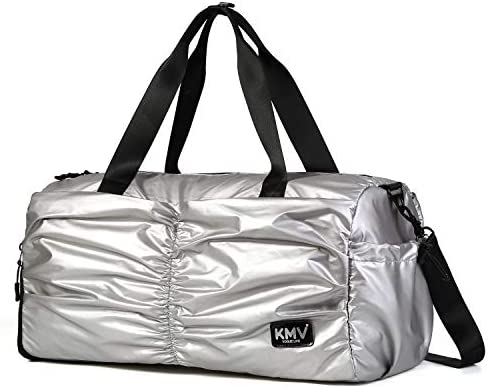 9007e0118db24 Gyms Bag with Shoes Compartment Mens/Womens Waterproof Sport&Travel Duffel  Black and Rose Gold (Silver)
