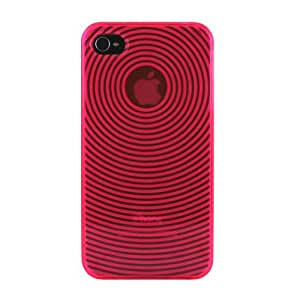 MiniSuit iPhone 4 TPU Skin Case compatible for iPhone 4G / 4th Generation 16GB / 32GB - Hot Pink Circle
