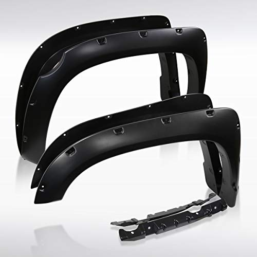Autozensation For Toyota Tundra Black Pocket Style Fender Flares Wheel Protector 4PC